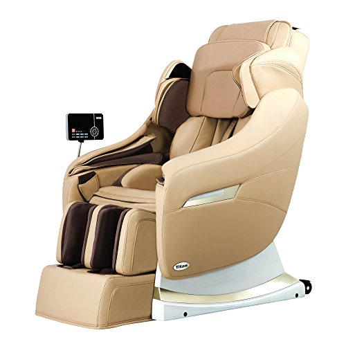 Titan TP-Pro Executive 3D Massage Chair, Toe Massage, Dual Stage Reclining Position, and 61 Airbags (Beige)