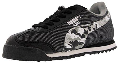 Boy Sneaker (8 M US Big Kid, Black/Limestone Gray) ()