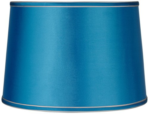 Sydnee Satin Turquoise Drum Lamp Shade 14x16x11