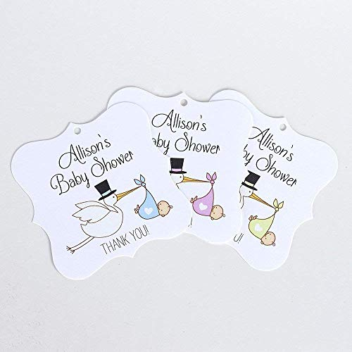 Stork Baby Shower Favor Hang Tags (FS-032)