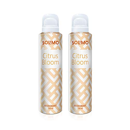 Amazon Brand – Solimo Citrus Bloom Gas Deodorant for Women – Pack of 2