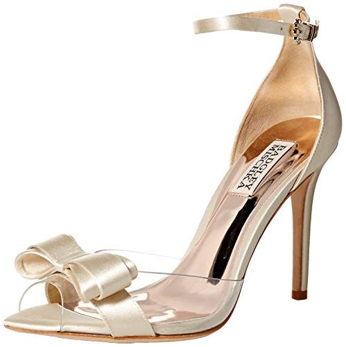 Badgley Mischka Women's Lindsay Pump, Ivory Satin, 10 M US