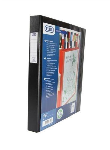 Elba Vision 126710 - Carpeta tamaño A3 vertical de 4 anillas (PVC, 35 mm