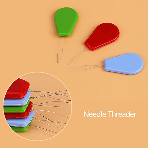 10 Pieces Plastic Needle Threaders, Gourd-shaped Wire Loop Needle Threader, Assorted Colors Stitch Insertion Hand Machine Sewing Tool DIY