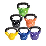 Cheap Body-Solid Vinyl Coated Kettle Bell Set, 105 lbs