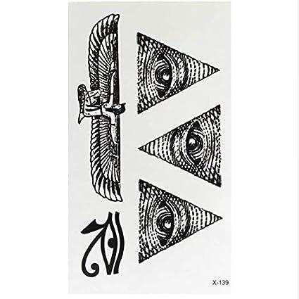 ruofengpuzi Adesivo tatuaggioOjo Egipcio Tatuaje Totem Tattoo Body ...