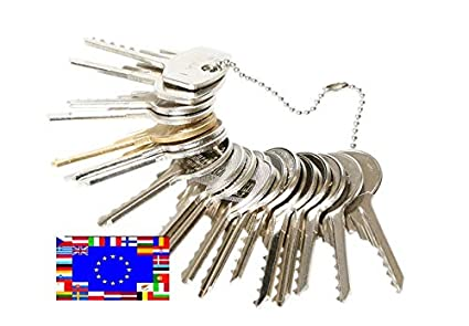 Kit de 15 llaves bumping Bump-Keys para cerraduras de serreta - España Kit A