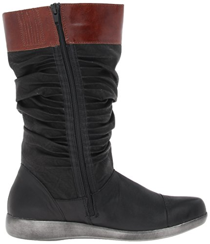 Women's Black Luggage Naot Leather Life Jet Tar Black Boot Brown Leather R7CqxCdnZ