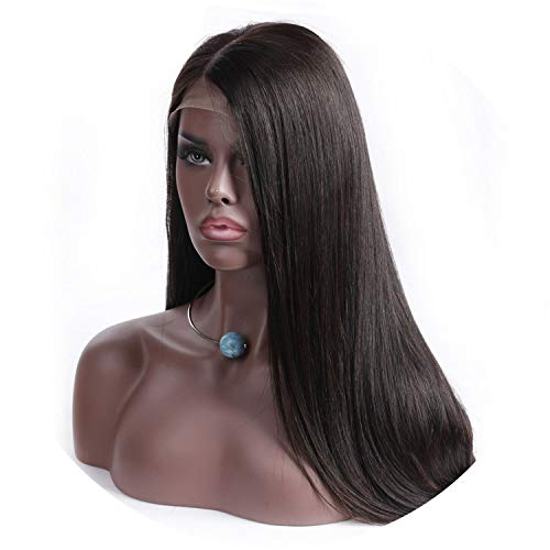 (134 Lace Front Human Hair Wigs For Black Woman Middle Part 130% Density Lace Frontal Wigs Brazilian Straight Remy Hair Natural)