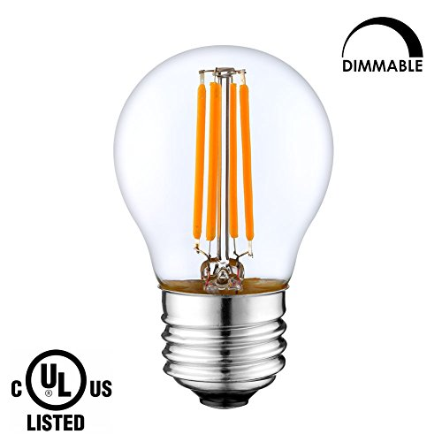LIGHTSTORY LED Edison Bulb G14, E26 Base 2700K Dimmable Globe LED Decorative Bulb (3W=40W)