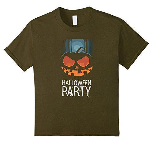 Kids Halloween Party T-Shirt- Easy Halloween Costume 2017 8 Olive