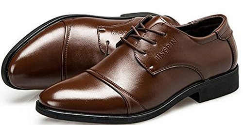 Size Business Shoes New Men's Casual Brown Trend Men's Suits Shoes Lace Large qxSnTnBw10