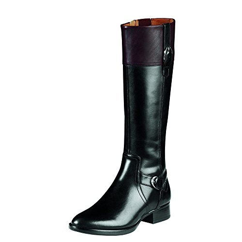 ARIAT Womens York English Country 8 B/Medium(Calf Width) Black/Cordovan