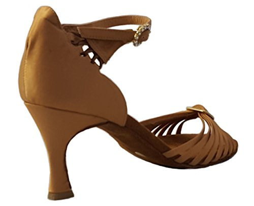 charles 321 scarpa balli latini salsa baciata kizomba fondo bufalo confort elegante con swarosky raso tamponato tacco 7 prodotto artigianale italiano EU 39