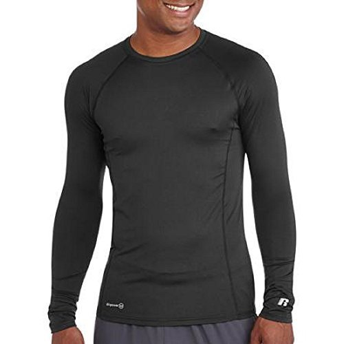 Russell Mens Performance Active Baselayer Thermal Crew Top (Large (Chest 42-44), Black)