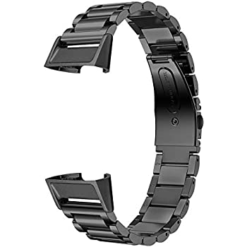 Amazon.com: Dsytom Metal Bands Compatible Fitbit Charge 3