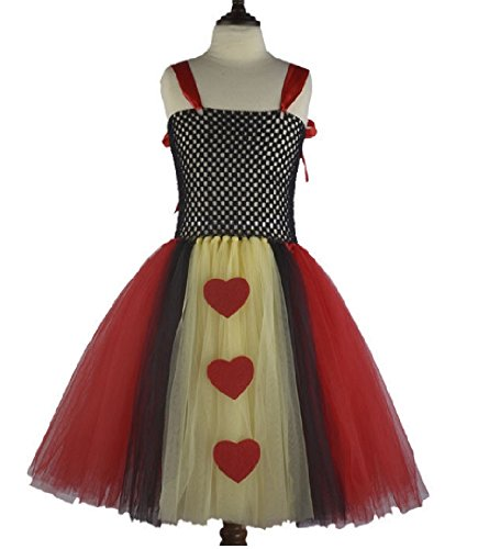 Queen of Harts Tutu Dress Costume/Accessories from Chunks of Charm (7- No Collar)