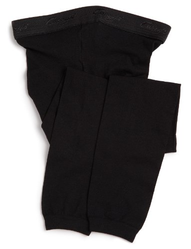 Footless Stretch Tights - Capezio Big Girls' Hold & Stretch Footless Tight Socks, Black, Large