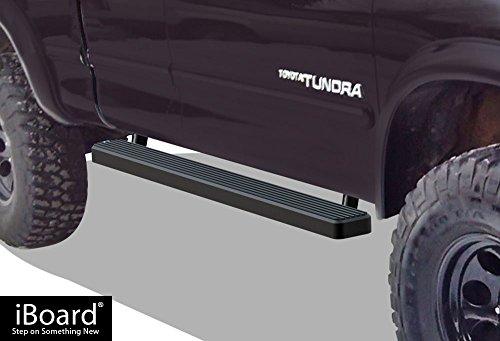 "iBoard Running Boards 4"" Matte Black Custom Fit 2000-2006 Toyota Tundra Access Cab Pickup 4-Door (Nerf Bars | Side Steps | Side Bars)"