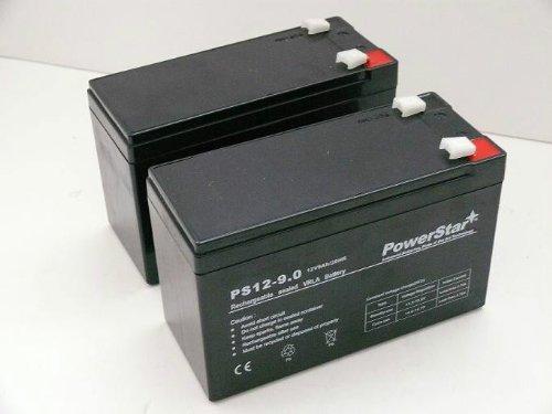 PowerStar-2 Pack- 12V 9AH SLA Battery/Razor Dirt Quad Electric/Scooter/Offroad/4 Wheeler by POWERSTAR