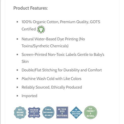 BeeCotton Baby Girl 100/% Organic Cotton Graphic Dress