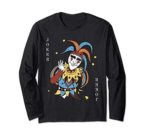 Joker Playing Card Halloween Costume T-shirt Wild Card