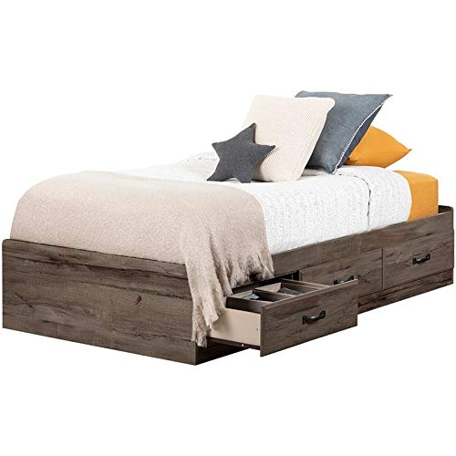 - South Shore 11911 Ulysses Twin Mates Bed, Fall Oak