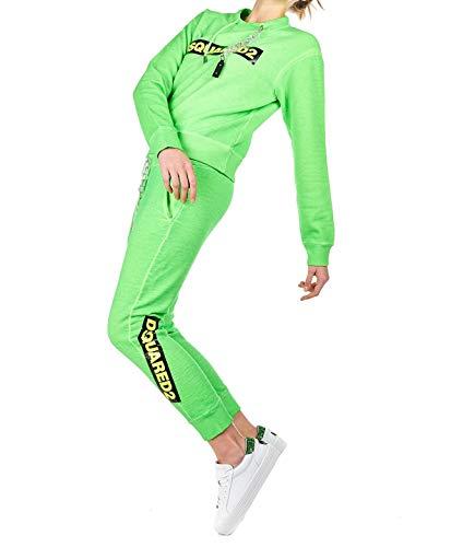Joggers Verde Donna Dsquared2 S75ka0975s25030910 Cotone wApAFX