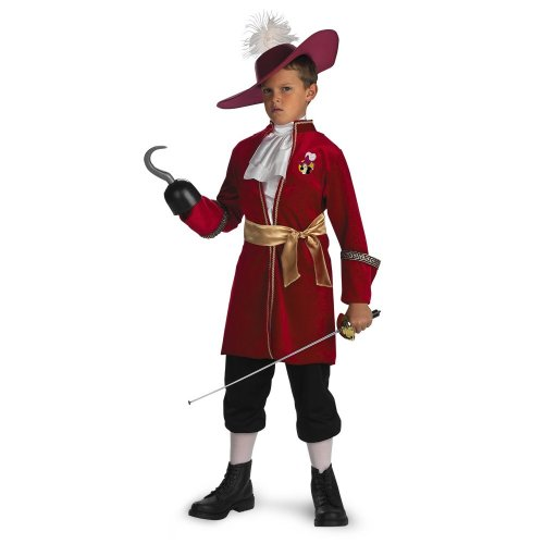 [Captain Hook - Size: Child S(4-6)] (Captain Hook Costumes Disney)
