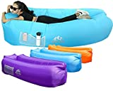 Buy Fold Up Chairs WEKAPO Inflatable Lounger Air Sofa Hammock-Portable,Water Proof& Anti-Air Leaking Design-Ideal Couch for Backyard Lakeside Beach Traveling Camping Picnics & Music Festivals