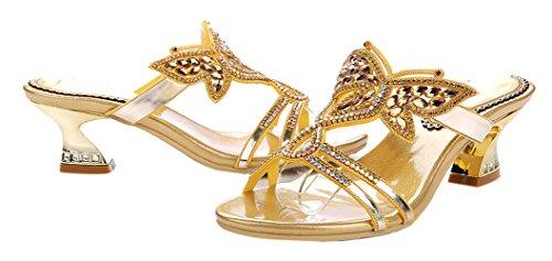 Sandalo A Tacco Alto Da Donna Con Strass, Sandali Comodi