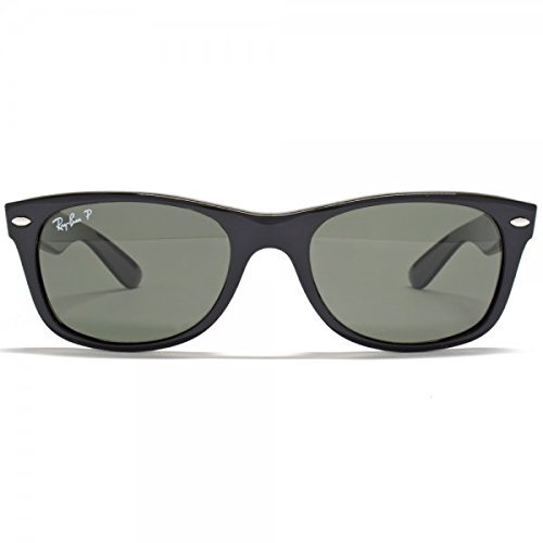 ban Black 55mm Authentic Ray W Polarized 90158 2132 58 Sunglasses 901 Rb2132 New crystal Shiny Wayfarer Large Green Rd8dq