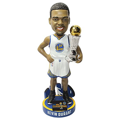 Kevin Durant (Golden State Warriors) 2017 NBA Finals MVP Trophy Bobble Head (Trophy Gold Figure)