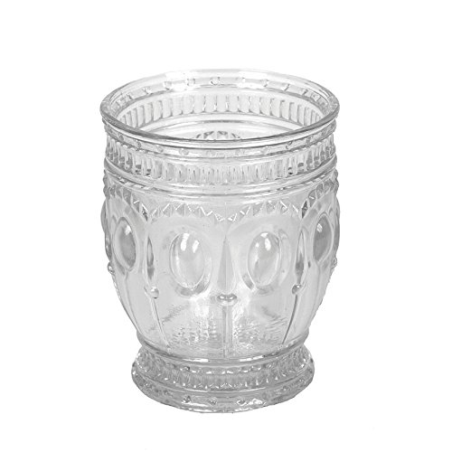 Creative Co-op DA2776 Embossed Drinking Glass, - Glass Embossed Votive