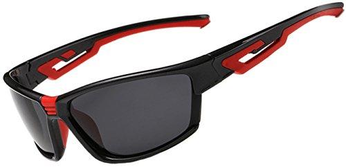 ATTCL® 2015 Fashion Polarized UV400 Cycling Sunglasses For Men Women 11190 black