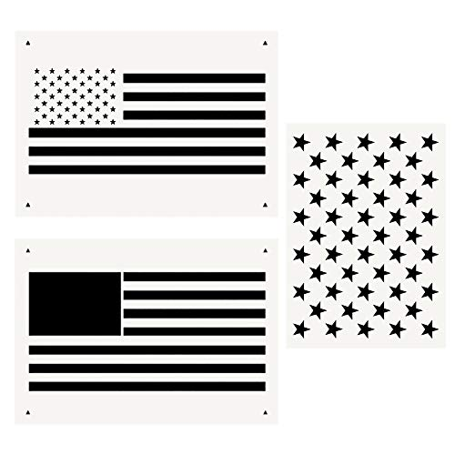 Star Stencil 50 Stars American Flag Template And 2 In 1 Usa Flag