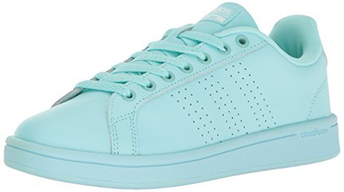 (adidas Women's Cloudfoam Advantage Clean Fashion Sneaker Clear Aqua/Clear Aqua/Running White (8.5 M US))