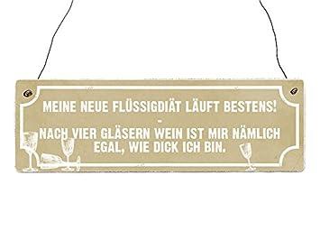 Holzschild Dekoschild Meine Neue Flussigdiat Wein Geschenk Frau Diat