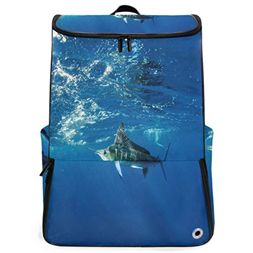 (Travel Backpack Striped Marlin Off The Mexican Coast Duffle Backpack for Women Big Hiking Daypack)