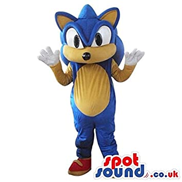 Sonic The Hedgehog Popular Video Game Character Spotsound Mascot Costume Amazon In Toys Games