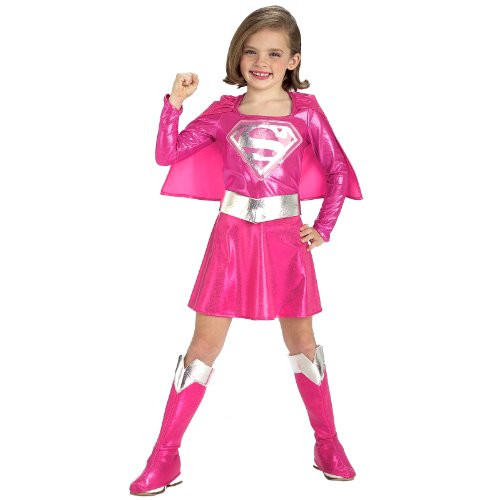 Child's Pink Supergirl Child's Costume, -