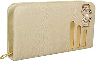 Awesome Fashions Beige Womens Pu Wallet