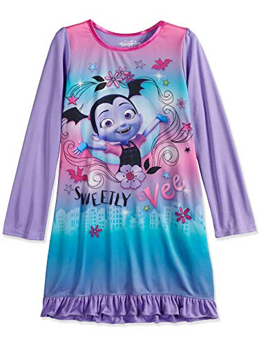 (Disney Vampirina Girls Long Sleeve Nightgown Pajamas (6, Purple))