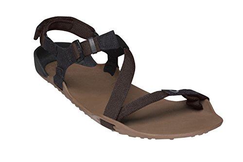 Xero Shoes Z-Trek - Men's Minimalist Barefoot-Insipred Sport Sandal - Hiking, Trail, Running, Walking - Mocha/Coffee (Walk On The Water Step On The Stone)