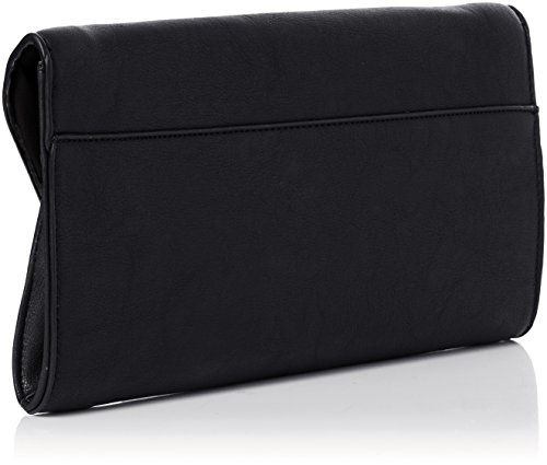 SwankySwans - Uma Stud Faux Leather, Pochette da giorno Donna Nero (Black)