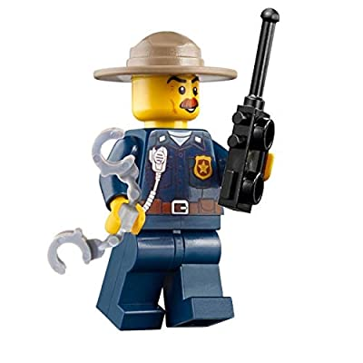 LEGO City Mountain Police Minifigure - Police Chief (with Handcuffs and Radio) 60174: Toys & Games