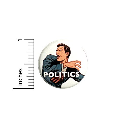 (Funny Button Running From Politics Sarcastic Jacket Pin Pinback Rad Cool 1 Inch 58-16)