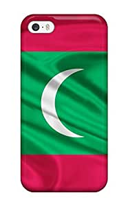 Excellent Design Maldives Flag Red Green White Moon World Nature Other Case Cover For Iphone 5/5s
