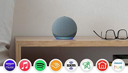 Certified Refurbished Echo Dot (4th Gen)   Smart speaker with Alexa   Twilight Blue