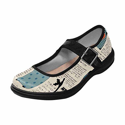Multi Mary Walking Womens Shoes 12 Flats Jane InterestPrint Casual Comfort 8BTCxq